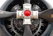 Airplane Propeller Framed Prints - Prop Power Framed Print by Dan Holm