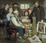 Political Paintings - Propaganda by Jean Eugene Buland