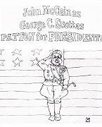 Presidential Drawings Posters - PROPaganda propAGENDA Poster by Cartoon Hempman