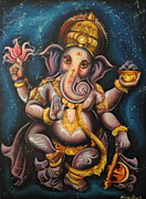 Ganesha Paintings - Propel  by Jennifer Michelle Long
