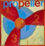 Kids Room Mixed Media Posters - Propeller Poster by Laurie Breen