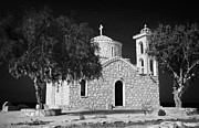 Rememberance Framed Prints - Prophet Elias Church Profitis Ayios Elias With Prayer Rag Trees Hilltop Protaras Republic Of Cyprus Framed Print by Joe Fox