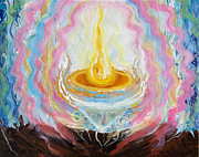 Anne Cameron Cutri Prints - Prophetic Message Sketch Painting 27 IT TAKES ONE PERSON Print by Anne Cameron Cutri