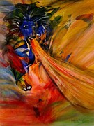 Lion Of Judah Paintings - Prophetic Roar by Deborah Nell
