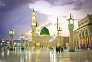 Festival Of Light Prints - Prophets Mosque Print by Tom Gowanlock