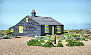 The Sun Rising Prints - Prospect Cottage Dungeness Print by Chris Thaxter