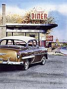 Lancaster Paintings - Prospect Diner by Denny Bond