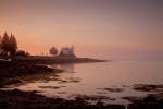 Maine Lighthouses Posters - Prospect Harbor Dawn Poster by Susan Cole Kelly