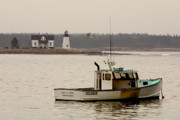 Lobster Boat Framed Prints - Prospect Harbor Lighthouse Framed Print by Brent Ander