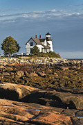 Maine Lighthouses Photo Posters - Prospect Harbor Lighthouse Poster by John Greim