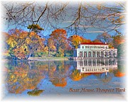 Bklyn Prints - Prospect Park Boathouse Print by Mark Gilman