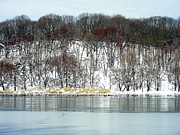 Bklyn Prints - Prospect Park Lake Winter Snow Print by Mark Gilman