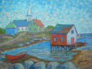 Village Pastels Prints - Prospect Village 2 Print by Rae  Smith PSC