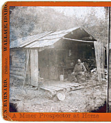 Log Cabin Photos - Prospector Archie Smith On The Porch by Everett