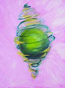 Sphere Paintings - Prosperity by Cecilia August Sand