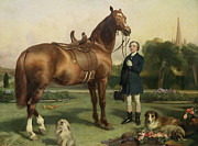 Dog Owner Posters - Prosperity Poster by Sir Edwin Landseer