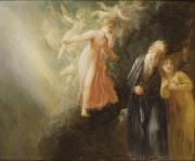 Mounted Photos - Prospero - Miranda and Ariel  by Thomas Stothard