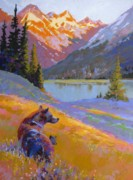 Grizzly Pastels Prints - Protected Print by Christine  Camilleri