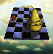 Chess Paintings - Protecting Baby 7 The Safety Rope by Leah Saulnier The Painting Maniac