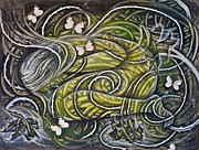 Vines Mixed Media Prints - Protection Print by Sheri Howe