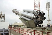 Enterprise Prints - Proton-m Rocket Before Launch Print by Ria Novosti