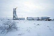 Thor Prints - Proton M Rocket Near Its Launch Pad Print by Ria Novosti