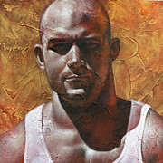 Male Painting Metal Prints - Proud 2 Metal Print by Chris  Lopez