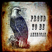 America Mixed Media - Proud by Angelina Vick