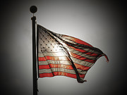 Waving Flag Framed Prints - Proud Framed Print by Chris Brannen