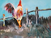 Interpretive Paintings - Proud Rooster  by Gary Partin