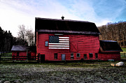 Barn Digital Art - Proud to be American by Bill Cannon