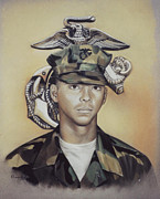 Military Pastels Metal Prints - Proud To Serve Metal Print by Nanybel Salazar