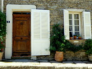 France Doors Prints - Provence Door Number 4 Print by Lainie Wrightson