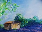Purple Digital Art Digital Art Digital Art Drawings - Provence House by Eric  Schiabor