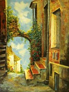 France Doors Painting Prints - Provence Print by Madeleine Holzberg