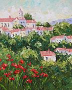 South Of France Paintings - Provence Souht of France by Frederic Payet