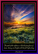 Bible Verses Framed Prints - Proverbs Framed Print by Phil Koch