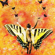 Spraypaint Prints - Providing Roots and Wings Print by Iosua Tai Taeoalii