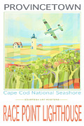 Cape Cod Paintings - Provincetown Cape Cod by Ezartesa Art