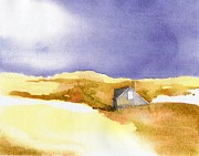 Sand Dunes Paintings - Provincetown Dune Shack by Joseph Gallant