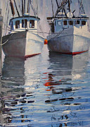 P Town Paintings - Provincetown Fleet by Michael Cranford