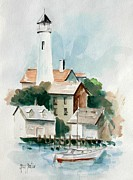 P Town Paintings - Provincetown by Gary Partin