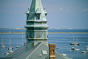 Governmental Framed Prints - Provincetown Harbor With Town Hall Framed Print by Michael Melford