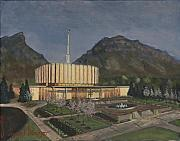 Temple Paintings - Provo Spring Evening by Jeff Brimley