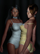 African-american Digital Art - Provocative Flirt by Alexander Butler