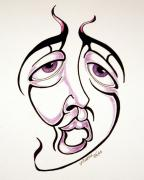 Drunk Drawings Prints - Prozak Moment  Print by P Russell