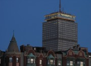 Prudential Center Framed Prints - Prudential Center at Dusk Framed Print by Juergen Roth
