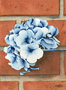 Brick Paintings - Prussian Flowers by Ken Powers