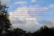 Bible. Biblical Posters - Psalms  Clouds in Tree Tops Poster by Linda Phelps