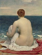 Beautiful Beach Paintings - Psamanthe by Frederic Leighton